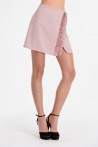 MONICA wrap mini skirt